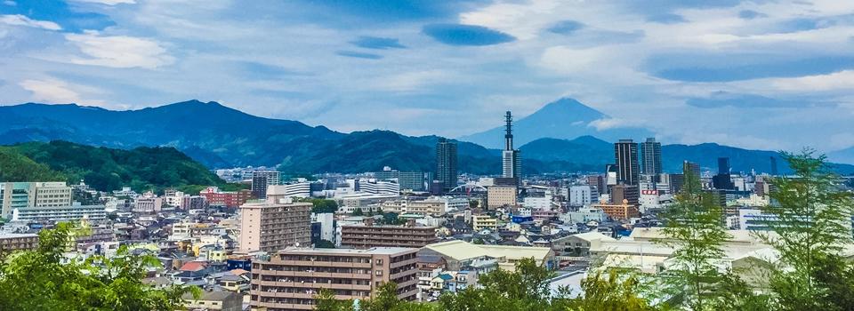 県議会議員 小長井よしお 静岡市の街並み