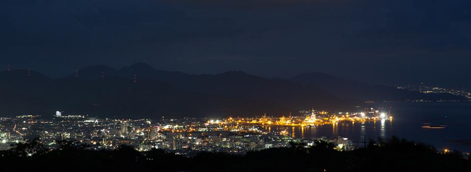 県議会議員 小長井よしお 駿河湾の夜景